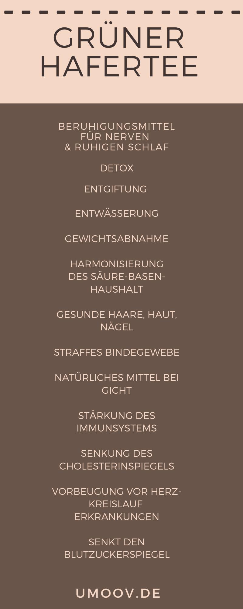 Grüner Hafertee